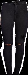 Asesoría de imagen ejecutiva - boohoo Petite Faye Split Knee Skinny Jeans - Boohoo - BooHoo
