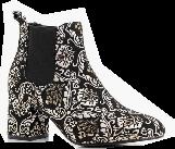 Outfit para cita - Asesoría de imagen ejecutiva - boohoo Baroque Print Low Block Heel Chelsea Boots - Boohoo - BooHoo