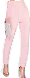 Asesoría de imagen ejecutiva - boohoo Natalya High Waisted Tailored Woven Trousers - Boohoo - BooHoo