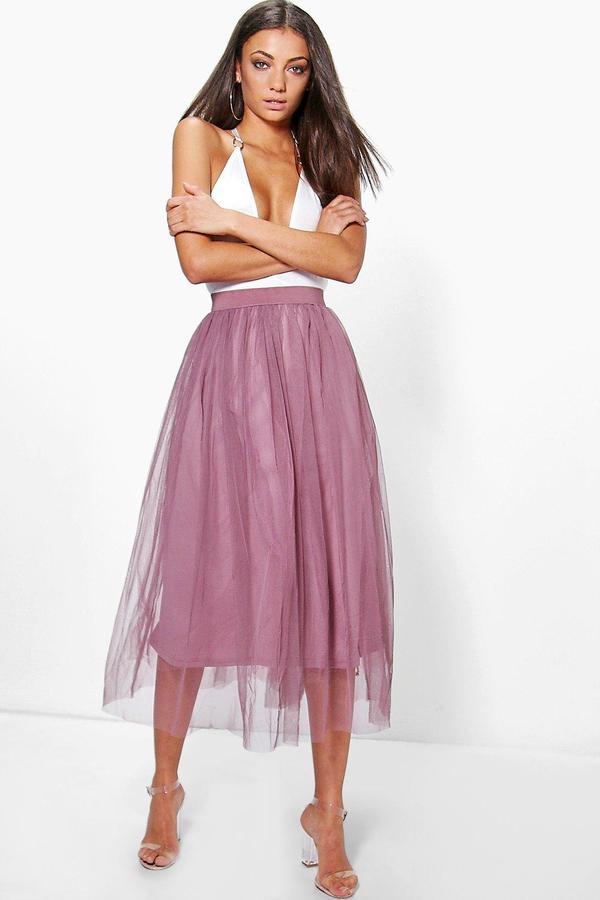 Outfit casual - Asesoría de imagen ejecutiva - boohoo Tall Emily Boutique Tulle Mesh Midi - Boohoo - BooHoo