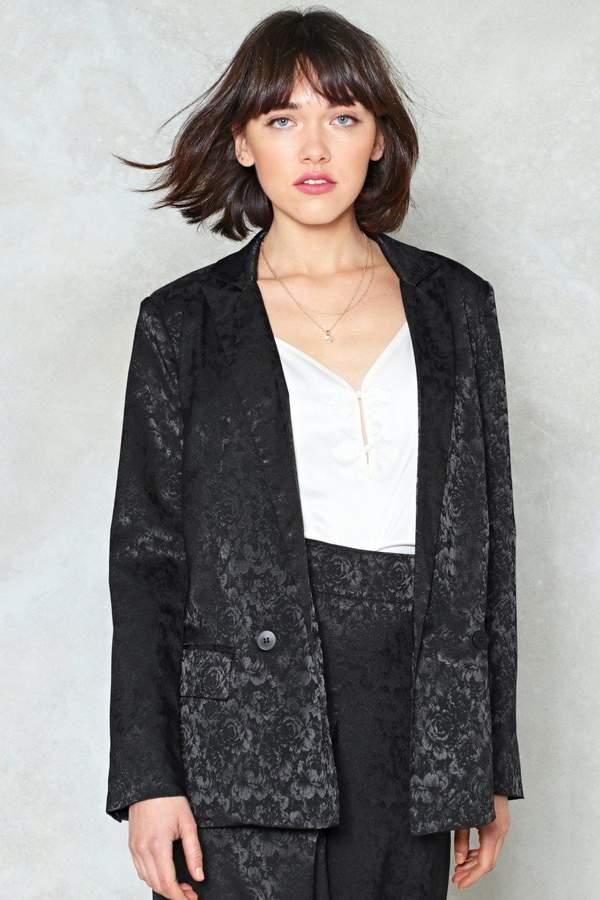 Outfit para coctel - Asesoría de imagen ejecutiva - Nasty Gal Stage Night Jacquard Blazer - Nasty Gal - Nasty Gal