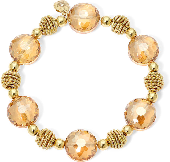 Outfit para oficina - Asesoría de imagen ejecutiva - MONET JEWELRY Monet Yellow Stone Gold-Tone Stretch Bracelet - Creativity For Kids - jcpenney