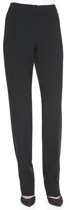 outfit ejecutivo - Asesoría de imagen ejecutiva - St. John Collection Crepe Marocain Straight Leg Diana Pants - St. John - Neiman Marcus