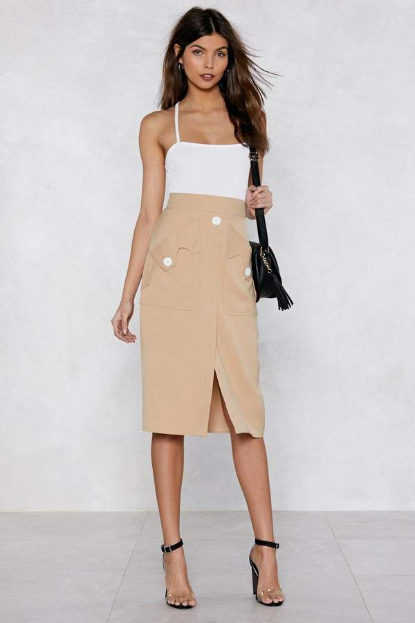 Outfit para oficina - Asesoría de imagen ejecutiva - Nasty Gal Pocket With the Program Midi Skirt - Nasty Gal - Nasty Gal