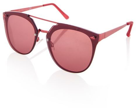 Outfit para oficina - Asesoría de imagen ejecutiva - Topshop Monique Rimless Cateye Sunglasses - Topshop - Topshop