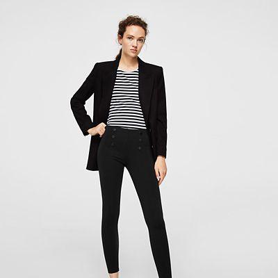 Outfit para oficina - Asesoría de imagen ejecutiva - Leggings Naval - MANGO - Saga Falabella