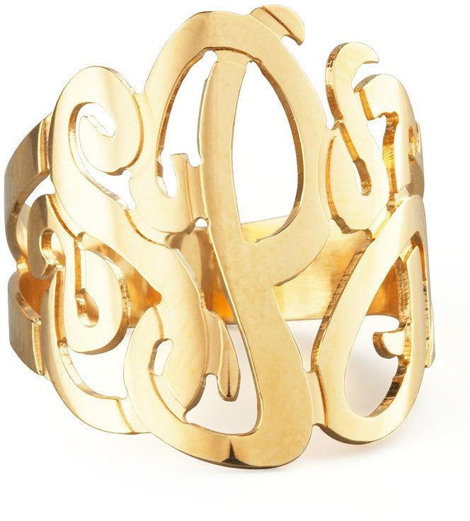 Asesoría de imagen ejecutiva - Jennifer Zeuner Three-Initial Monogram Ring - Jennifer Zeuner Jewelry - Neiman Marcus