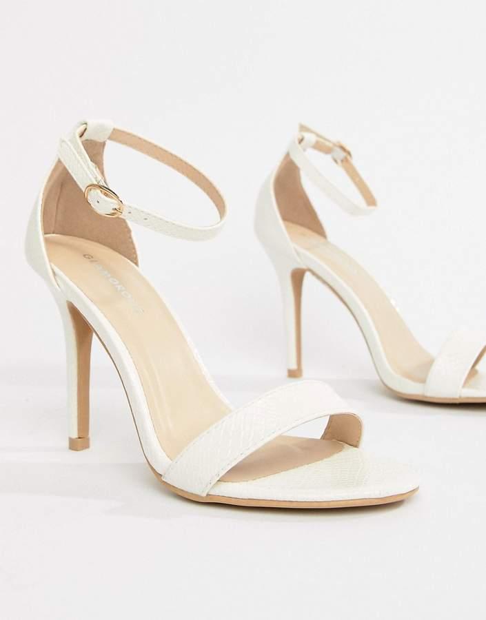 Outfit para coctel - Asesoría de imagen ejecutiva - Glamorous White Barely There Heeled Sandal - Glamorous - Asos