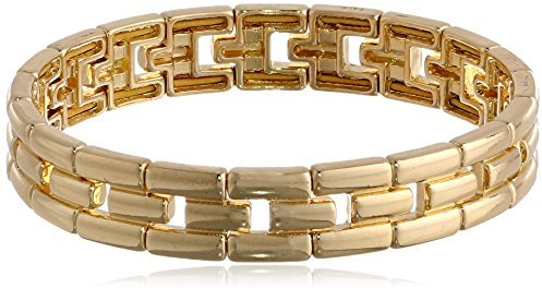 "Asesoría de imagen ejecutiva - Anne Klein ""Classics"" Gold-Tone Linked Stretch Bracelet - Anne Klein - Amazon.com"