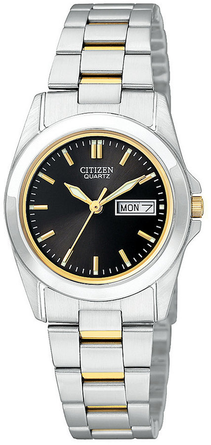 Outfit para oficina - Asesoría de imagen ejecutiva - Citizen Women's Two Tone Stainless Steel Bracelet Watch 28mm EQ05654-59E - Citizen - Macy's