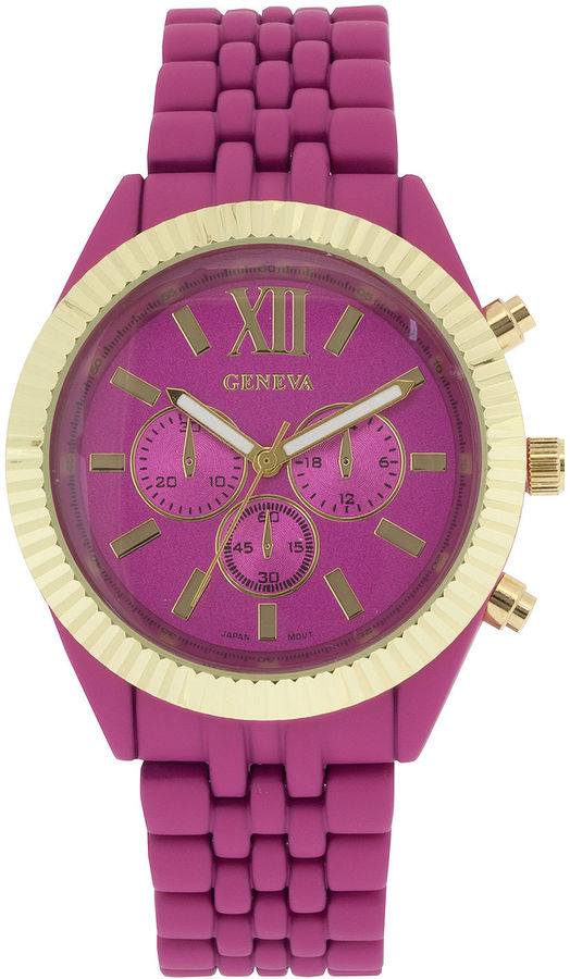 Outfit casual - Asesoría de imagen ejecutiva - FASHION WATCHES Womens Coin-Edge Bezel Pink Dial Bracelet Watch - Creativity For Kids - jcpenney