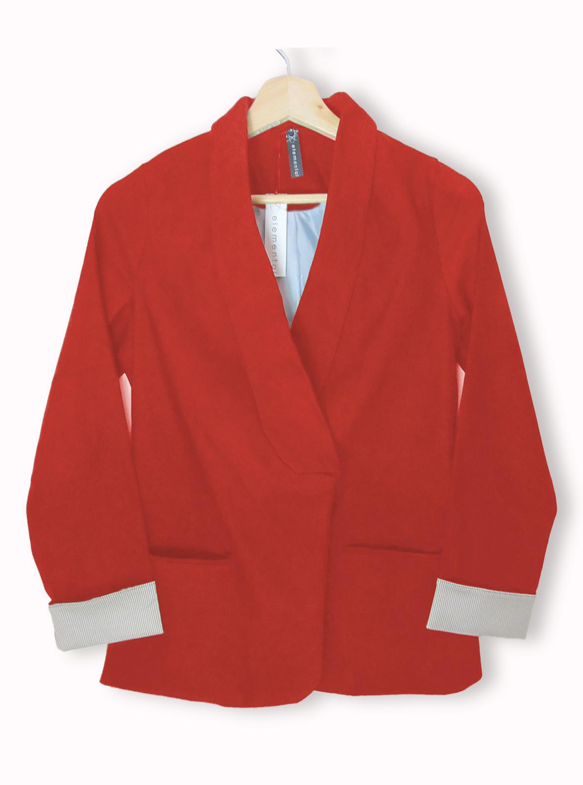 Outfit para oficina - Asesoría de imagen ejecutiva - Blazer Rojo - Elemental - VIPSOUL