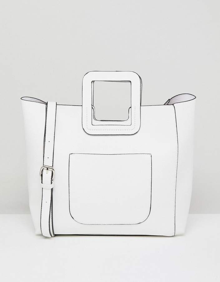 Outfit para oficina - Asesoría de imagen ejecutiva - French Connection Tote Bag With Structured Handle And Detachable Across Body Strap - French Connection - Asos