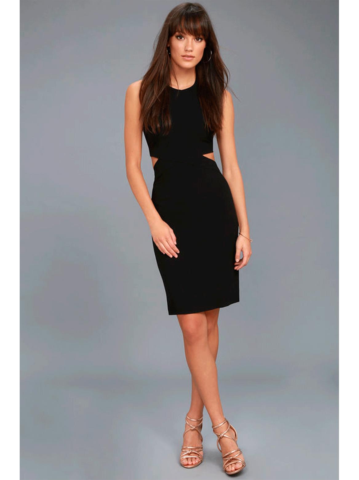 Outfit minimal - Asesoría de imagen ejecutiva - Vestido Uniquely Chic Black Bodycon Halter - Lulus - VIPSOUL