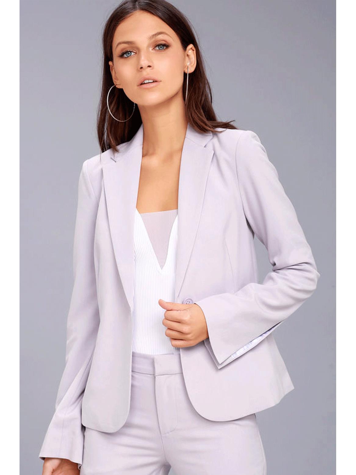 Outfit para oficina - Asesoría de imagen ejecutiva - Blazer Marina Lavender  - Lulus - VIPSOUL