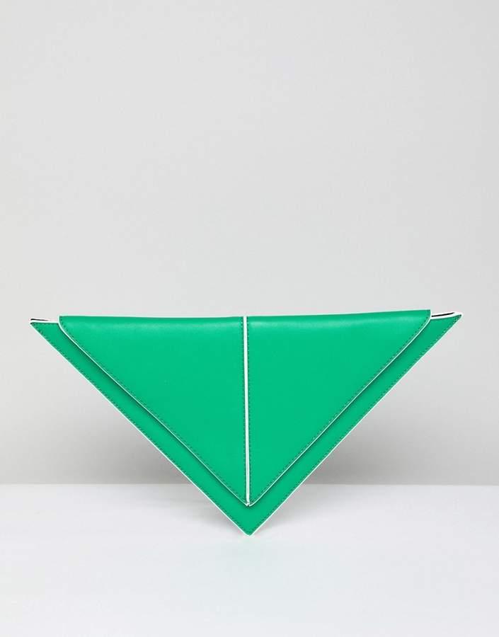 Outfit para coctel - Asesoría de imagen ejecutiva - ASOS DESIGN triangle clutch bag - Asos - Asos