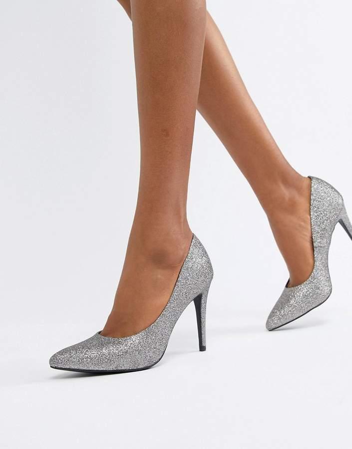 Outfit para oficina - Asesoría de imagen ejecutiva - New Look glitter pointed pumps - New Look - Asos