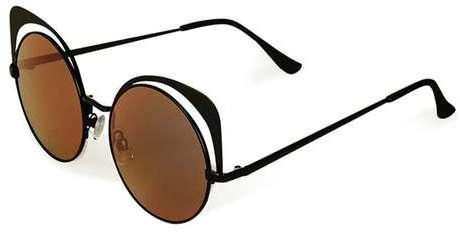 Outfit para gorditas - Asesoría de imagen ejecutiva - Topshop Metal Mirrored Sunglasses - Topshop - Topshop