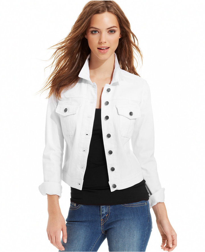 Outfit casual - Asesoría de imagen ejecutiva - Kut from the Kloth Jacket, Denim, White Wash - KUT from the Kloth - Macy's