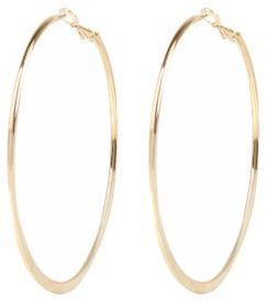 Outfit casual - Asesoría de imagen ejecutiva - River Island Womens Gold tone medium flat bottom hoop earrings - Lenox - River Island