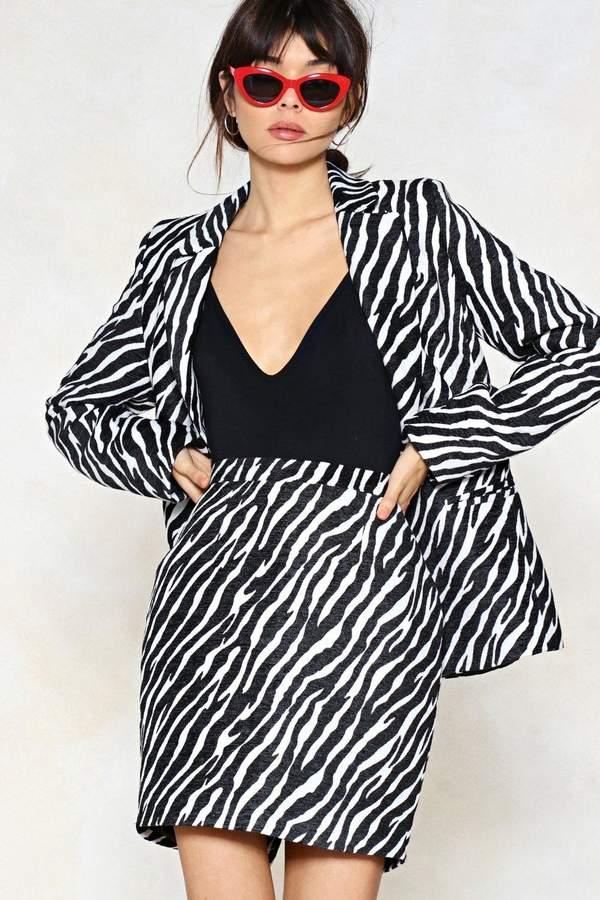 Outfit para oficina - Asesoría de imagen ejecutiva - Nasty Gal Wild Streak Zebra Skirt - Nasty Gal - Nasty Gal
