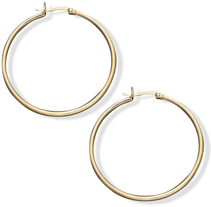 "Outfit para oficina - Asesoría de imagen ejecutiva - Giani Bernini Giani Bernini Hoop Earrings in 24k Gold Over Sterling Silver, 1-1/2"" - Giani Bernini - Macy's"