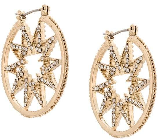 Outfit para gorditas - Asesoría de imagen ejecutiva - Marchesa Notte star hoop earrings - Marchesa - farfetch.com