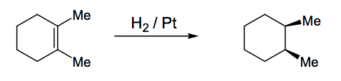 Scheme 9: Catalytic Hydrogenation Gives cis Addition