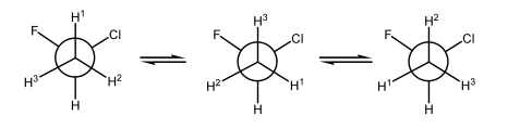 Scheme 20: Non-diastereotopic H's as the C-C Bond Spins
