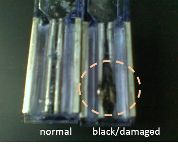 File:2012 07 burnt electroporation cuvette.jpg