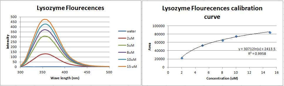 Lysozyme flourescences calobration curve.PNG