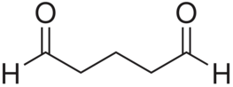 File:Glutaraldehyde chemical structure.png