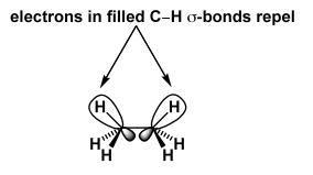 Scheme 12: Electrons in Filled C-H σ Bonds Repel