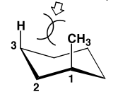 Scheme 19: The 1,3-Diaxial Clash in one Chair Conformation of Methylcyclohexane