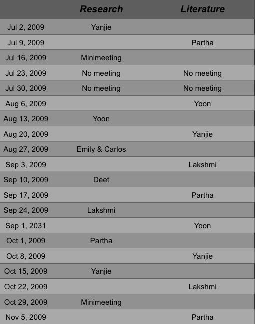 Carrico Group Calendar - Summer 2009.JPG