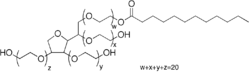 Structure of Tween20, aka Polyoxyethylene (20) sorbitan monolaurate