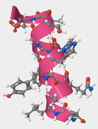 An alpha helix created by amino acids 105-117.
