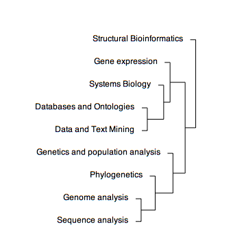 Image:Bioinformatics Research Area Clustering.png