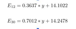 E equations