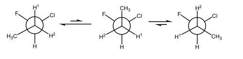 Scheme 21: Diastereotopic H's as the C-C Bond Spins