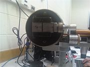 Figure 3: The constant-deviation spectrometer slit. This width allowed the maximum definition on the spectral lines we were observing.