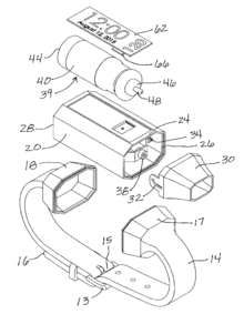 Design for a detachable wrist inhaler
