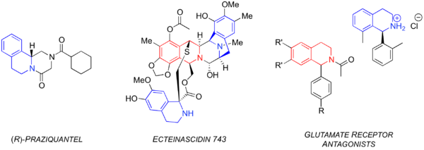 Figure 2: Pictet-Spengler accessible bioactive molecules.
