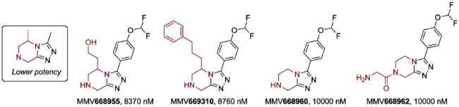 Modification of Core Pyrazine, Replacing Aromatic with Aliphatic Ring
