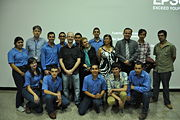 A Group picture with several of the students at Zamorano and Professors Maria Mercedes Roca and Arie Sanders