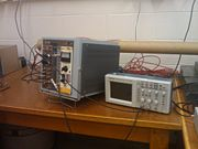 Figure 3:The set up in its final form with all the attached wires.
