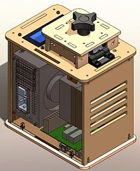 SolidWorks mock up of Open PCR machine