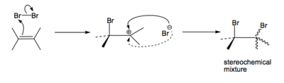 Scheme 3: Possible Stepwise Polar Addition of Bromine