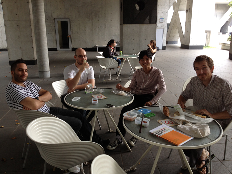 Image:BIOMOD-2012-UTkyo-UTKomaba-lunch with mentors.png