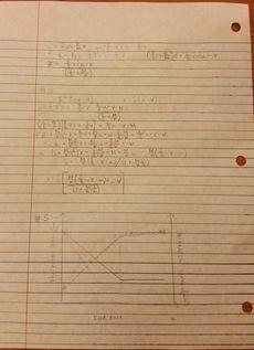 Backside of homework